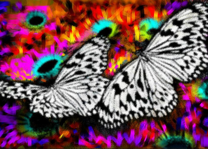 Nature Greeting Card featuring the digital art Butterfly by Ilias Athanasopoulos