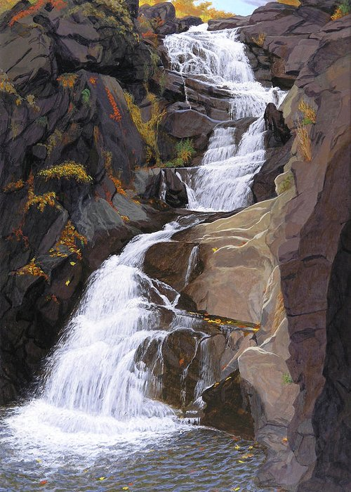 Buttermilk Falls Paintings Greeting Cards