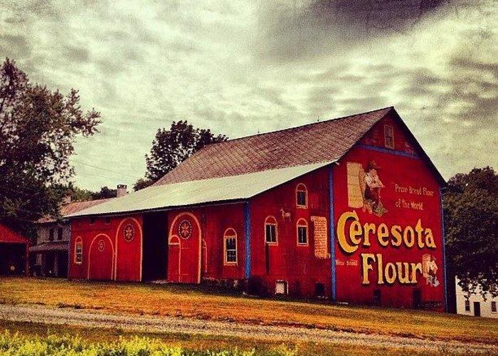 Beautiful Greeting Card featuring the photograph Buy Flour. #barn #pa #pennsylvania by Luke Kingma