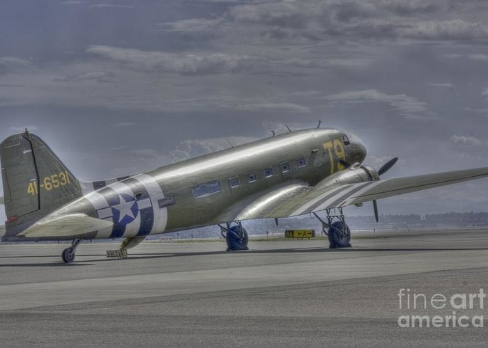 C47 Greeting Card featuring the photograph C-47 Skytrain by David Bearden