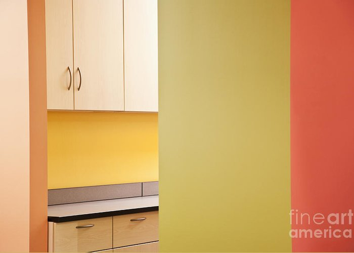 Architecture Greeting Card featuring the photograph Cabinets In An Office Supply Room by Jetta Productions, Inc