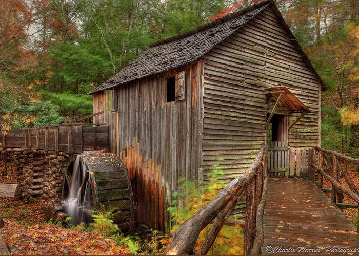 2010 Greeting Card featuring the photograph Cable Mill by Charles Warren