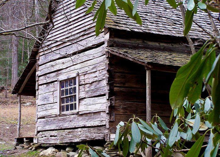 Appalachian Greeting Card featuring the photograph Cades Cove Cabin by Jim Finch
