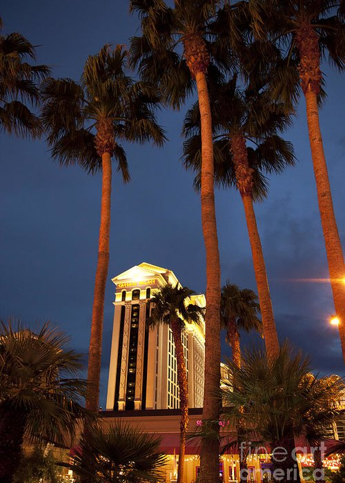 America Greeting Card featuring the photograph Caesars Palace 6 by Jane Rix