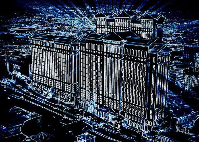 Caesars Palace Greeting Card featuring the photograph Caesars Palace by Steven Richardson