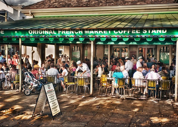 New Orleans Greeting Card featuring the photograph Cafe Du Monde by Brenda Bryant