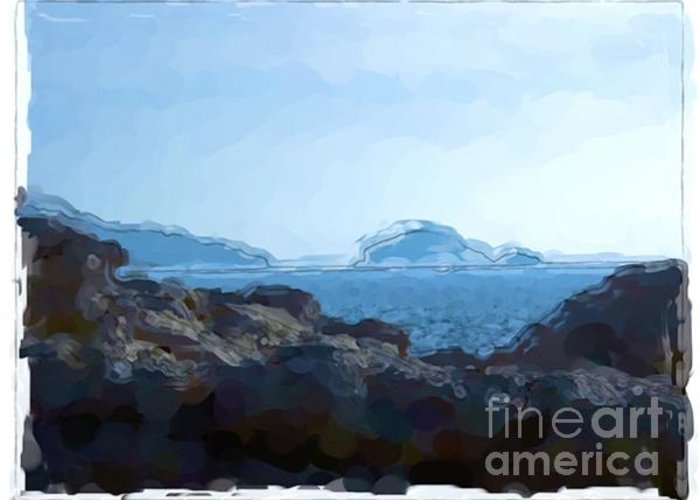 Landscapes Greeting Card featuring the painting Callanque - France by Franck Guarinos