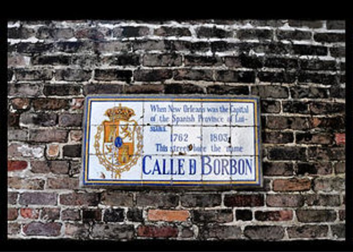 Calle D Borbon Greeting Card featuring the photograph Calle D Borbon by Bill Cannon