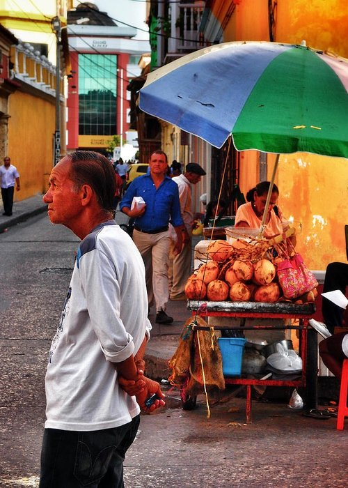 Calle De Coco Greeting Card featuring the photograph Calle De Coco by Skip Hunt