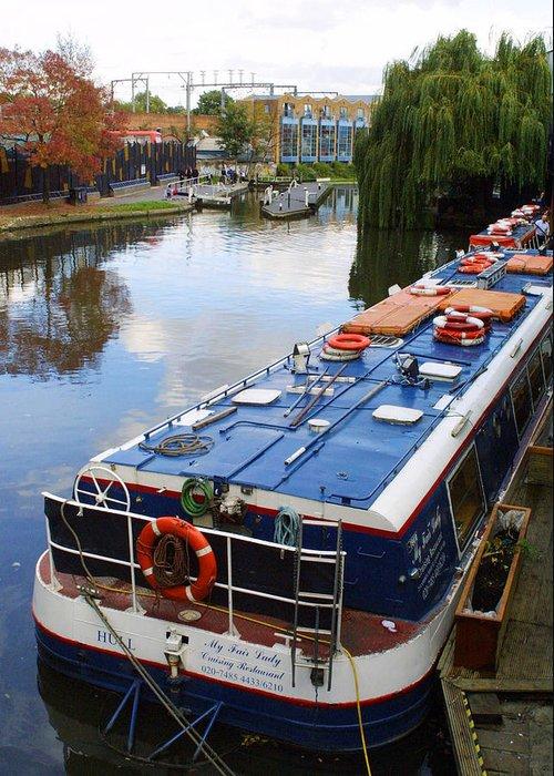 Camden Greeting Card featuring the photograph Camden Lock by Gareth M Thomas
