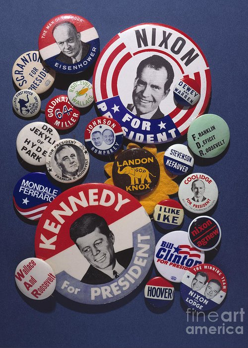 20th Century Greeting Card featuring the photograph Campaign Buttons by Granger