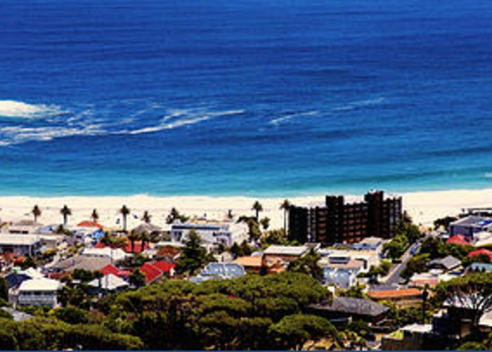 Camps Bay Greeting Card featuring the photograph Camps Bay Beach by Fabrizio Troiani