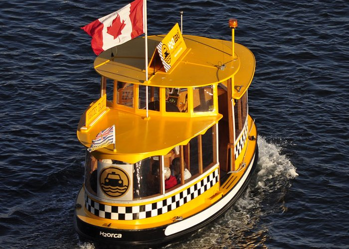 Water Greeting Card featuring the photograph Canadian Water Taxi by MaryJane Armstrong