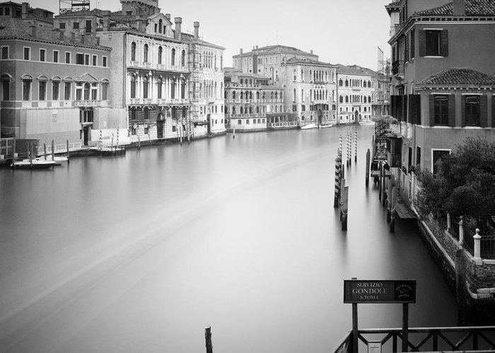 Venice Greeting Card featuring the photograph Canal Grande Study Iv by Nina Papiorek