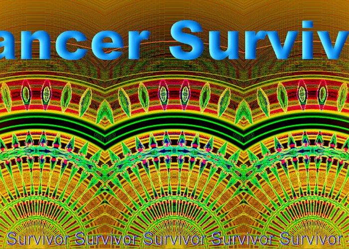Cancer Greeting Card featuring the digital art Cancer Survivor by Visual Artist Frank Bonilla