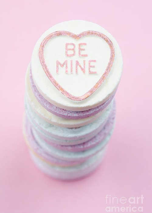 Candy Greeting Card featuring the photograph Candy With Be Mine Written On It by Neil Overy