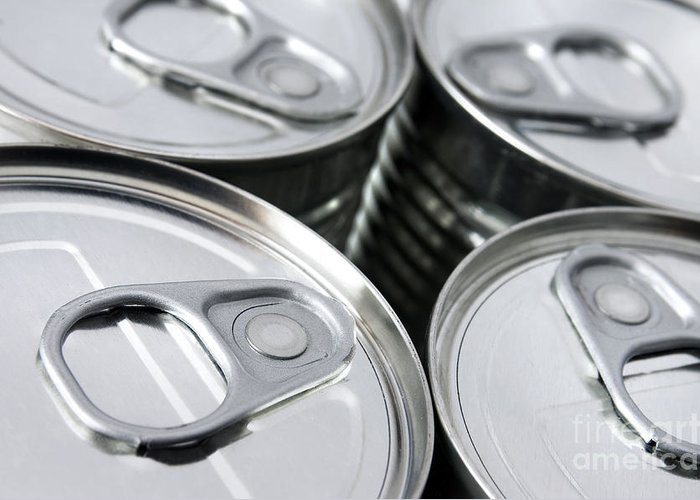Airtight Greeting Card featuring the photograph Canned Food by Carlos Caetano