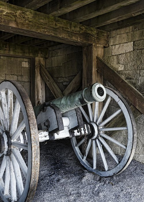 Old Fort Niagara Greeting Card featuring the photograph Cannon Storage by Peter Chilelli