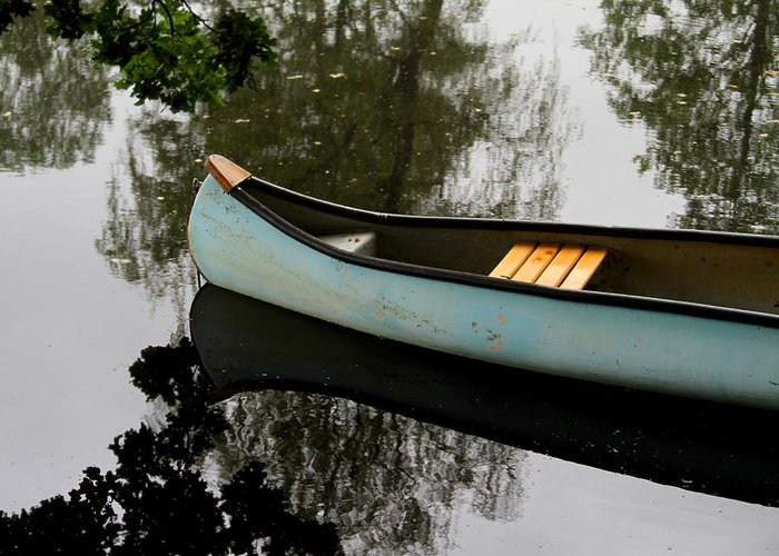 Canoe Greeting Card featuring the photograph Canoe by Odd Jeppesen