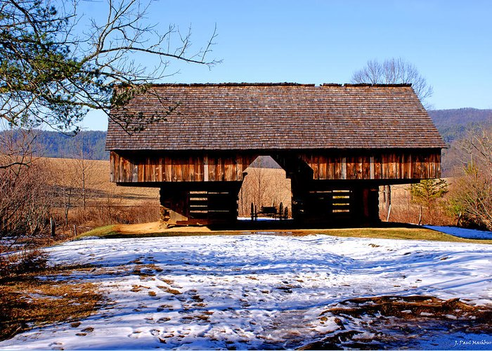 Barn Greeting Card featuring the photograph Cantilever Barn by Paul Mashburn