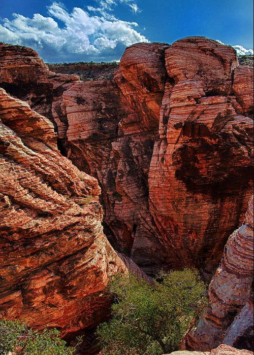 Red Rock Canyon Photographs Greeting Card featuring the photograph Canyon Glow by Rick Berk