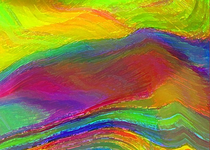 Abstract Greeting Card featuring the digital art Capacious by ME Kozdron