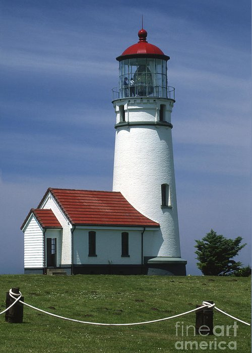 Bronstein Greeting Card featuring the photograph Cape Blanco Lighthouse by Sandra Bronstein