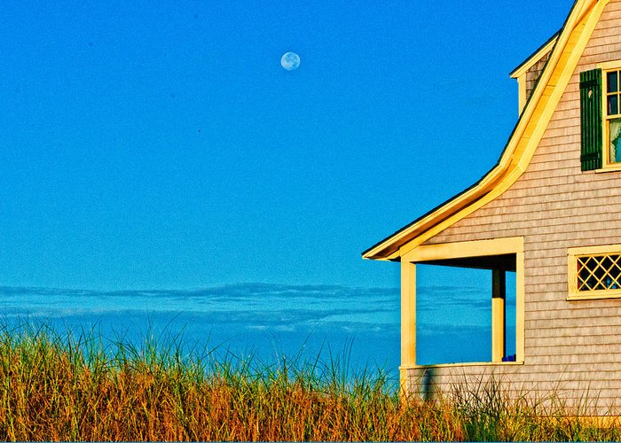House Greeting Card featuring the photograph Cape Cod Bay House by Linda Pulvermacher