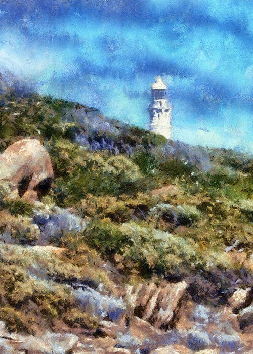 Lighthouse Greeting Card featuring the digital art Cape Leeuwin by Roberto Gagliardi