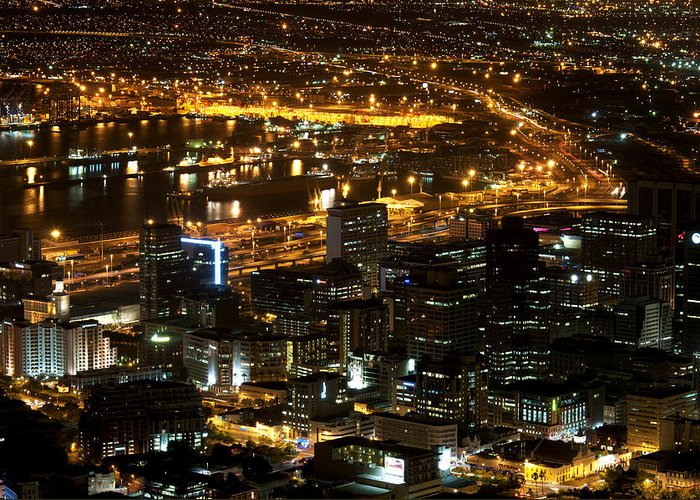 View Greeting Card featuring the photograph Cape Town by Fabrizio Troiani