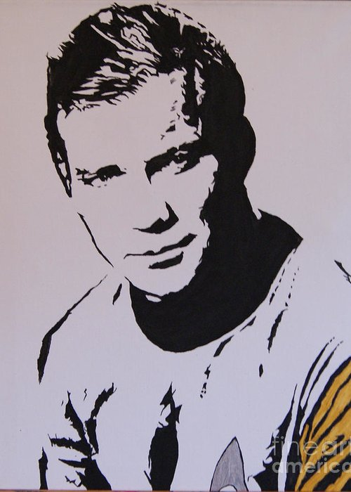 New Art Greeting Card featuring the painting Captain Kirk by Robert Epp