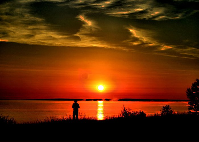 Sunset Greeting Card featuring the photograph Captivated by Matthew Winn
