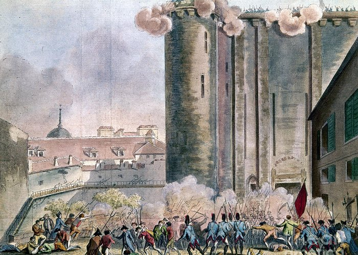 1789 Greeting Card featuring the photograph Capture Of The Bastille by Granger