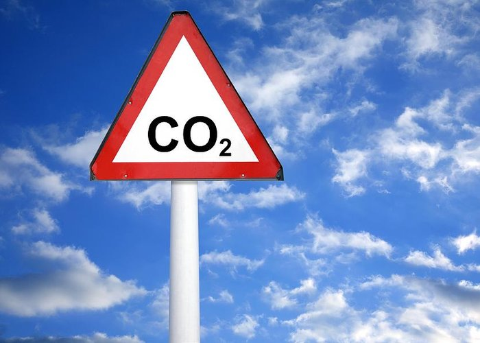Carbon Dioxide Greeting Card featuring the photograph Carbon Dioxide And Global Warming by Victor De Schwanberg
