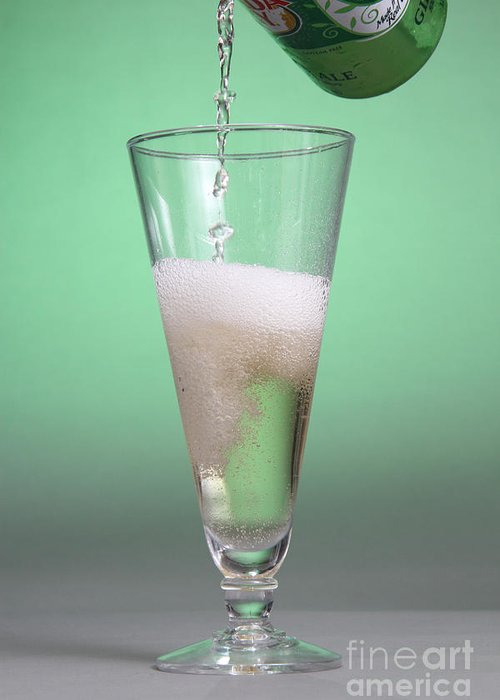 Carbonation Greeting Card featuring the photograph Carbonated Drink by Photo Researchers, Inc.