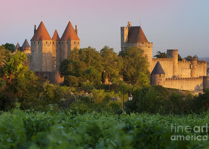 Carcassonne Greeting Card featuring the photograph Carcassonne Dawn by Brian Jannsen