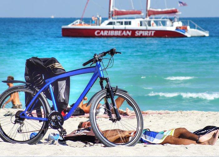Beach Greeting Card featuring the photograph Caribbean Spirit by Dieter Lesche