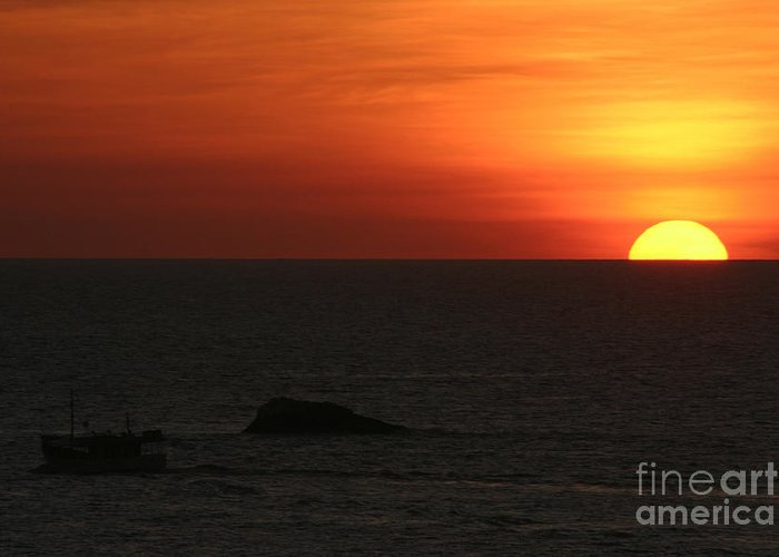 Sunset Greeting Card featuring the photograph Caribbean Sunset by Torsten Dietrich
