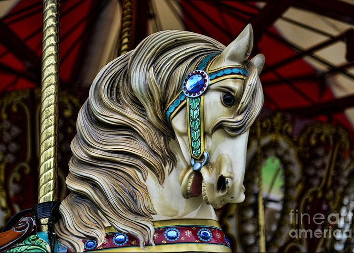 Carousel Greeting Card featuring the photograph Carousel Horse 3 by Paul Ward