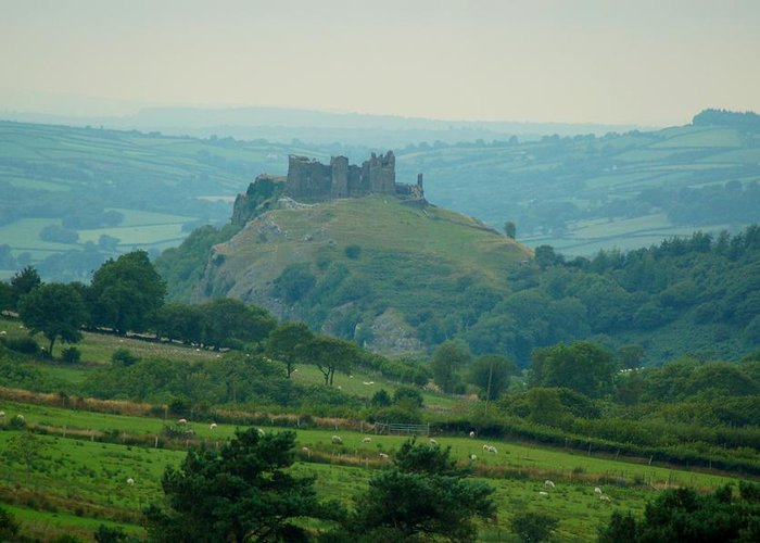 Greeting Card featuring the photograph Carreg Cennen Castle by Tam Ryan