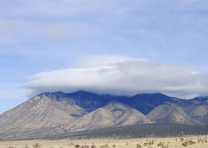 Carrizo Mountain Greeting Card featuring the photograph Carrizo Peak Lenticular by Jon Rossiter