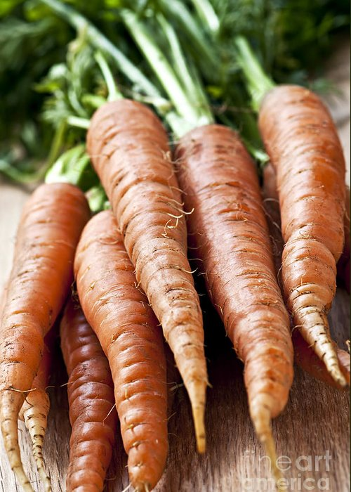 Carrots Greeting Card featuring the photograph Carrots by Elena Elisseeva