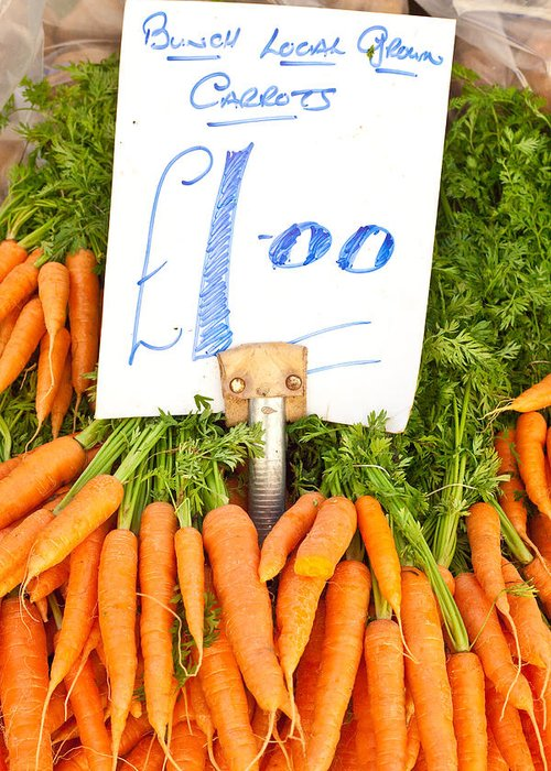 Carrots Greeting Card featuring the photograph Carrots by Tom Gowanlock