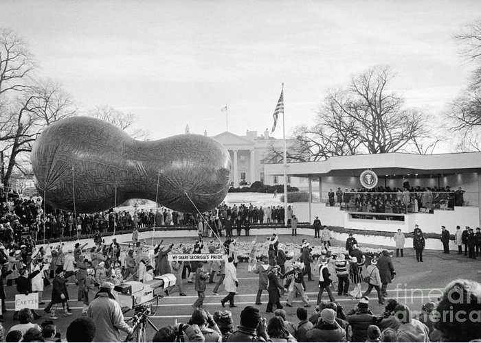 1977 Greeting Card featuring the photograph Carter Inauguration, 1977 by Granger