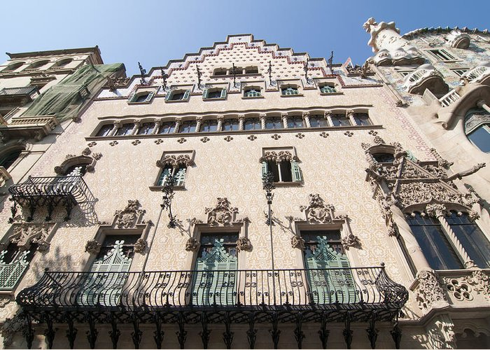 Amatller Greeting Card featuring the photograph Casa Amatller Building Barcelona by Matthias Hauser