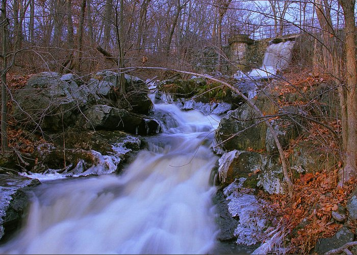 Cascade Greeting Card featuring the photograph Cascade by Ed Pearson