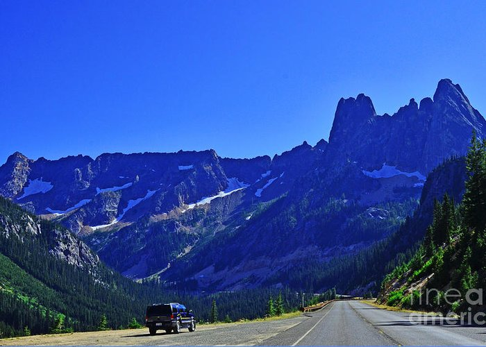 Cascades Greeting Card featuring the photograph Cascade Mountain Range by Jack Moskovita