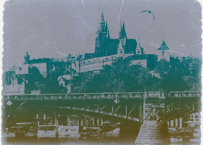 Castillo De Praga Greeting Card featuring the photograph Castillo De Praga by Naxart Studio