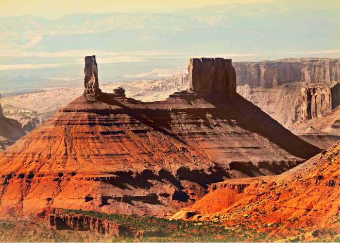 Castle Butte Greeting Card featuring the photograph Castle Bute 1 by Marty Koch