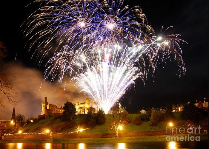 Inverness Greeting Card featuring the photograph Castle Illuminations by John Kelly
